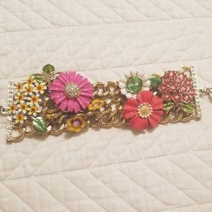 Betsey Johnson Flower Garden Bracelet